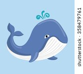 sea fauna cartoon | Shutterstock .eps vector #358479761
