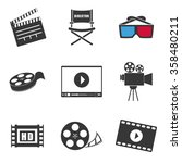 movie and videofilm... | Shutterstock .eps vector #358480211