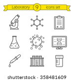 laboratory tools linear icons... | Shutterstock .eps vector #358481609