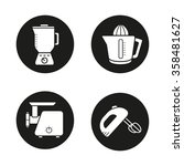 kitchen equipment black icons... | Shutterstock .eps vector #358481627