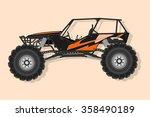 off   road buggy 4x4 vector