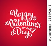 happy valentine's day card.... | Shutterstock .eps vector #358493645