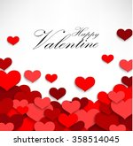 valentine heart on a white... | Shutterstock .eps vector #358514045
