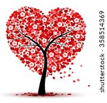 valentines day background with... | Shutterstock .eps vector #358514369
