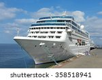 cruise tourist ship in black... | Shutterstock . vector #358518941