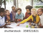 people meeting social... | Shutterstock . vector #358521821