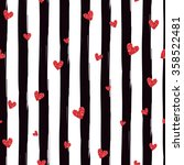 reda glittering heart confetti... | Shutterstock .eps vector #358522481