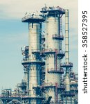 industrial view at oil refinery ... | Shutterstock . vector #358527395