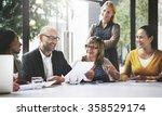 business people meeting... | Shutterstock . vector #358529174