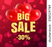 happy valentine's day  30  big... | Shutterstock .eps vector #358529789