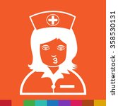 nurse face emotion icon... | Shutterstock .eps vector #358530131