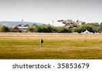 military airplane on runway.... | Shutterstock . vector #35853679
