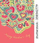 valentine's day greeting card.... | Shutterstock .eps vector #358542779
