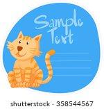border design with ginger cat... | Shutterstock .eps vector #358544567