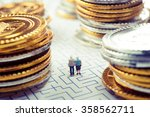 couple of elderly walk through... | Shutterstock . vector #358562711
