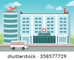 hospital building with medical... | Shutterstock .eps vector #358577729