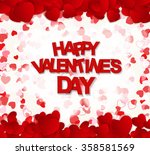 happy valentines day card.... | Shutterstock .eps vector #358581569