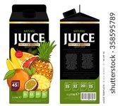 tropical fruit juice template... | Shutterstock .eps vector #358595789