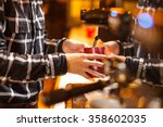 waitress and waiter are serving | Shutterstock . vector #358602035