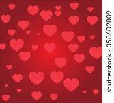 valentine   heart  the... | Shutterstock .eps vector #358602809