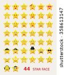 emoticons icon set.set of stars ... | Shutterstock .eps vector #358613147