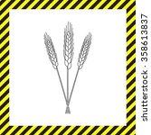 ears of wheat  barley or rye... | Shutterstock .eps vector #358613837