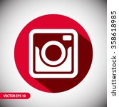 retro camera icon. one of set... | Shutterstock .eps vector #358618985