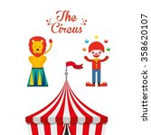 circus entertainment design  | Shutterstock .eps vector #358620107