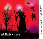 halloween witchcraft | Shutterstock .eps vector #35862493