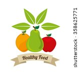 health and organic food design  | Shutterstock .eps vector #358625771