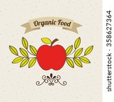 health and organic food design  | Shutterstock .eps vector #358627364