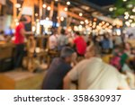 crowded traveler in pub at... | Shutterstock . vector #358630937