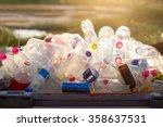 recyclable garbage of glass and ...   Shutterstock . vector #358637531