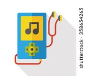 music player flat icon