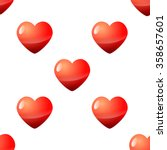 valentine day seamless red... | Shutterstock .eps vector #358657601