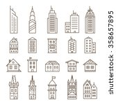 building icons set. vector... | Shutterstock .eps vector #358657895