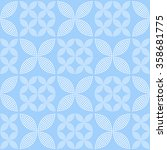 seamless tiled monochrome blue... | Shutterstock .eps vector #358681775