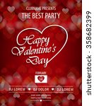valentines day party flyer... | Shutterstock .eps vector #358682399