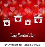 valentines poster with hanging... | Shutterstock .eps vector #358684421