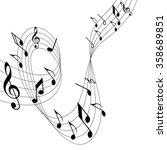 illustration of music  the... | Shutterstock .eps vector #358689851