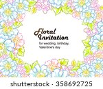 vintage delicate invitation... | Shutterstock .eps vector #358692725