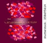 happy valentine's background ...   Shutterstock .eps vector #358695614