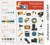 photography infographics set... | Shutterstock .eps vector #358697399