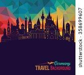 travel germany famous landmarks ... | Shutterstock .eps vector #358699607