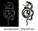 black and white snake | Shutterstock .eps vector #358705334