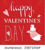 valentines day vintage... | Shutterstock .eps vector #358710569