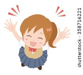 girl happy | Shutterstock .eps vector #358716221