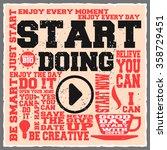 start doing. creative... | Shutterstock .eps vector #358729451