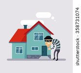 theft insurance colourful... | Shutterstock .eps vector #358731074