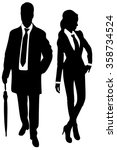 young business couple with...   Shutterstock .eps vector #358734524